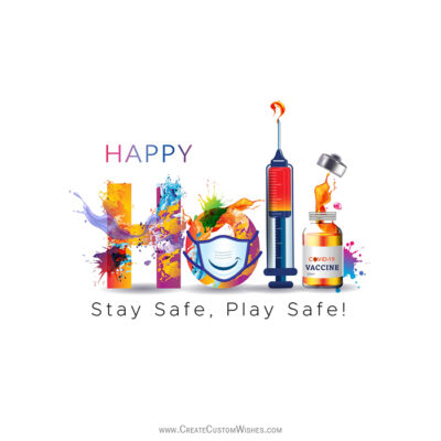 Play Safe Holi Greetings & Wishes Images