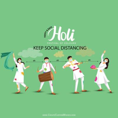 Holi - Keep Social Distancing Greetings