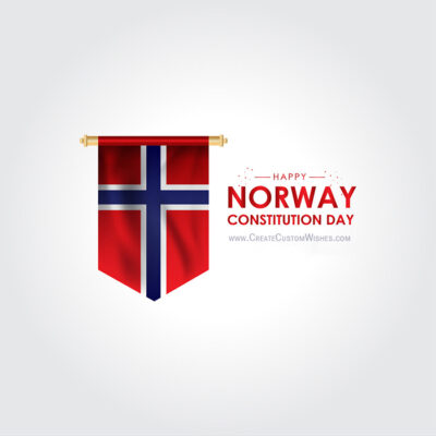 Norway Constitution Day with Name Greeting