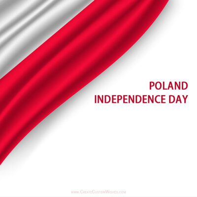 Poland Independence Day with Name Greeting