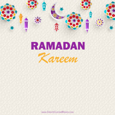Ramadan Eid 2021 Wishes Card Creator!