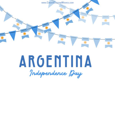 Write Name on Argentina Independence Day Pic