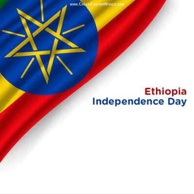 Write Name on Ethiopia Independence Day Pic