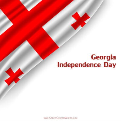Write Name on Georgia Independence Day Pic
