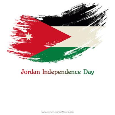Write Name on Jordan Independence Day Pic