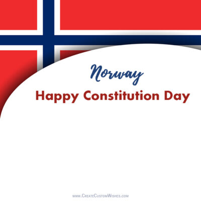 Write Name on Norway Constitution Day Pic
