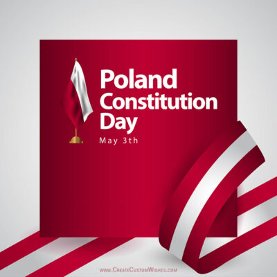 Write Name on Poland Constitution Day Pic