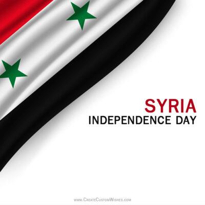 Write Name on Syria Evacuation Day Image