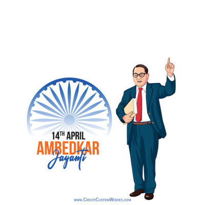 Add Name on Ambedkar Jayanti Image