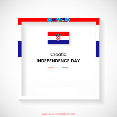 Add Name on Croatia Independence Day Image