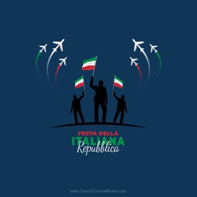 Add Name on Festa della Repubblica Image