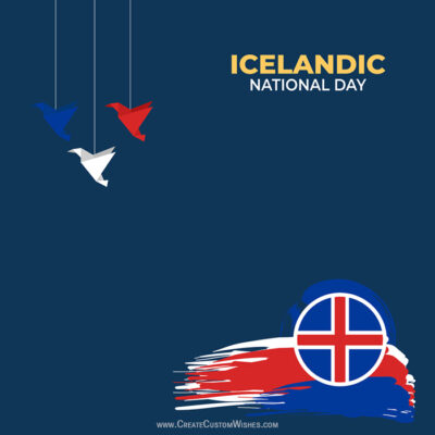 Add Name on Icelandic National Day Image