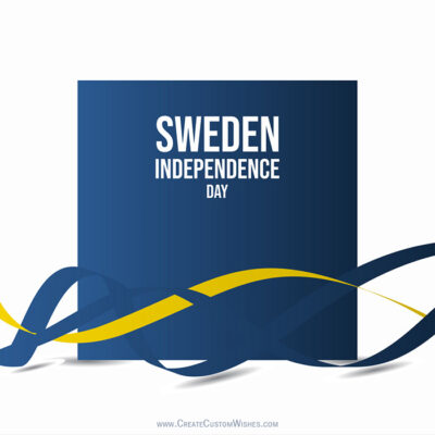 Add Name on Sweden Independence Day Image