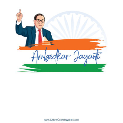 Ambedkar Jayanti with Name Greetings