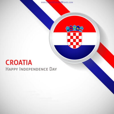 Create Croatia Independence Day Greetings