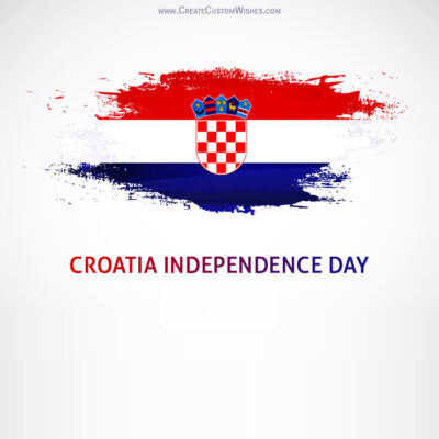Create Croatia Independence Day for Company