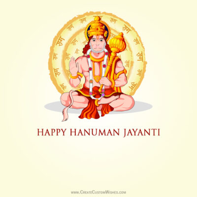 Create Hanuman Jayanti Wishes for Company