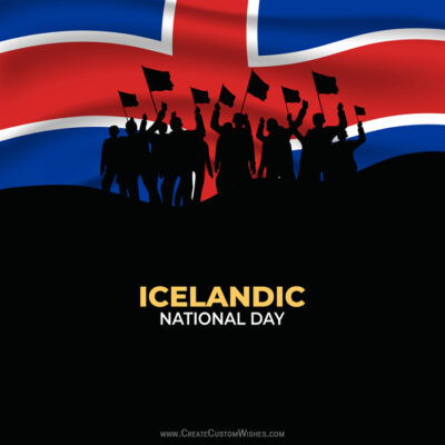 Create Icelandic National Day Greetings