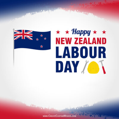 Create Labor Day Card for New Zealand