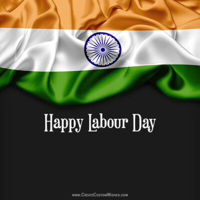 Create Labour Day Wishes Card for India