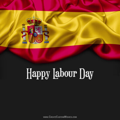 Create Labour Day Wishes Pic for Spain