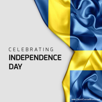 Create National Day of Sweden Greetings Card