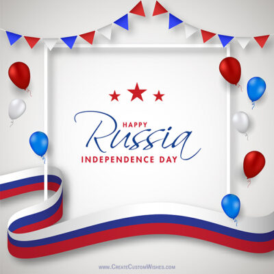 Create Russia Independence Day Image