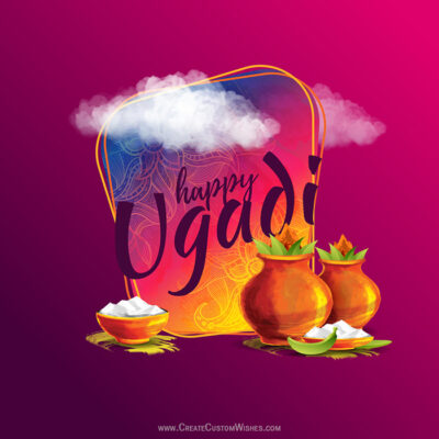 Create Ugadi Wishes Image for Business