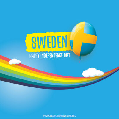 Editable National Day of Sweden Wishes Image
