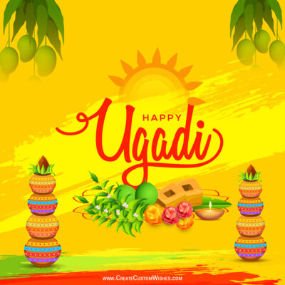 Editable Ugadi Greeting Cards, Images