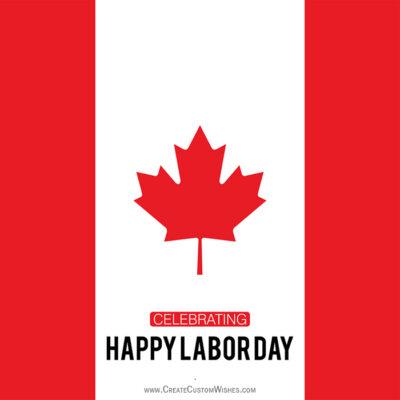 Editable Labor Day eCard for Canadian