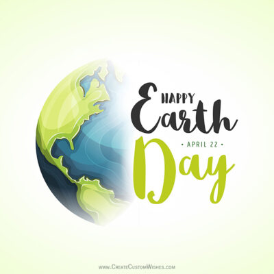 Greeting Card for Happy Earth Day