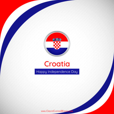 Greetings Card for Croatia Independence Day