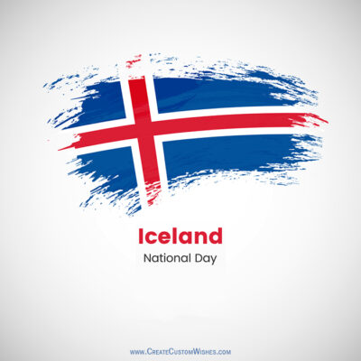 Greetings Card for Icelandic National Day