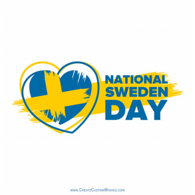 Greetings Card for National Day of Sweden