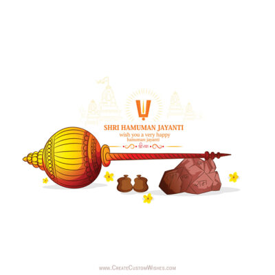 Write Name on Hanuman Jayanti Wishes Images