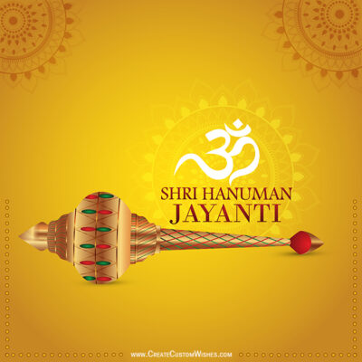 Make Hanuman Jayanti Wishes Status Image