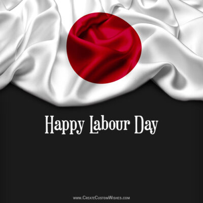 Make Labour Day Wishes Card for Japan