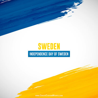 National Day of Sweden Wishes for Company