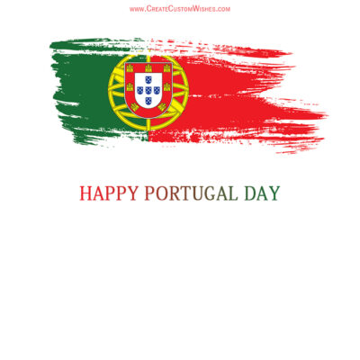 Portugal Day with Name Wishes Image