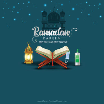 Stay Home & Safe Ramadan Kareem Greeting