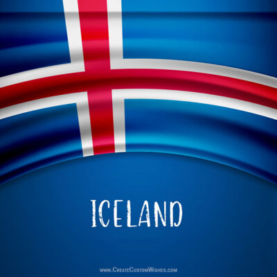 Write Text on Icelandic National Day Card