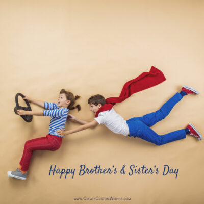 Add Name & Photo on Brothers and Sisters Day Image