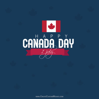 Add Name & Photo on Canada Day Image