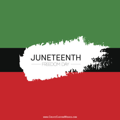 Add Name & Photo on Juneteenth Wishes Image
