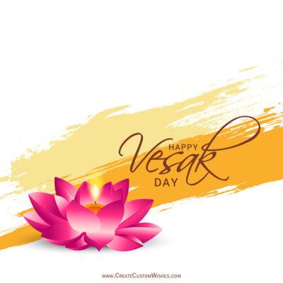 Add Name & Photo on Vesak Day Image