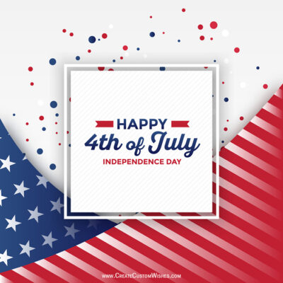 Add Name on 4th of July (USA) Greetings