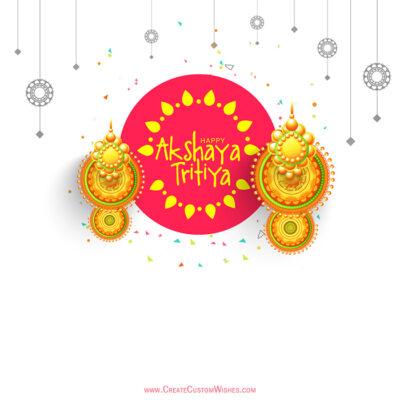 Akshaya Tritiya with Name Greeting Card