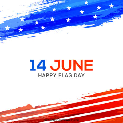 Create 14 June Flag Day with Name & Photo