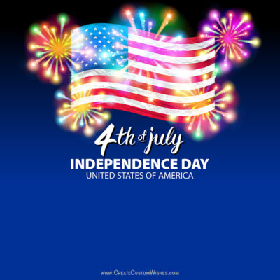 Create 4th of July Firework Greeting Card